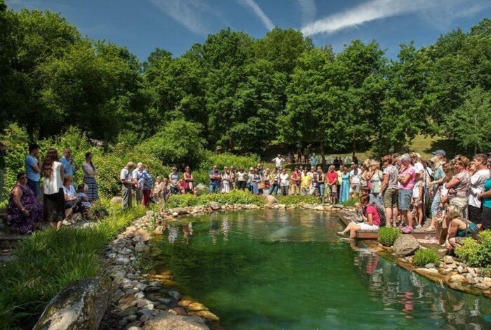 Zahradní architekti z atelieru Flera na zámku Mitrowicz předvedli svou práci