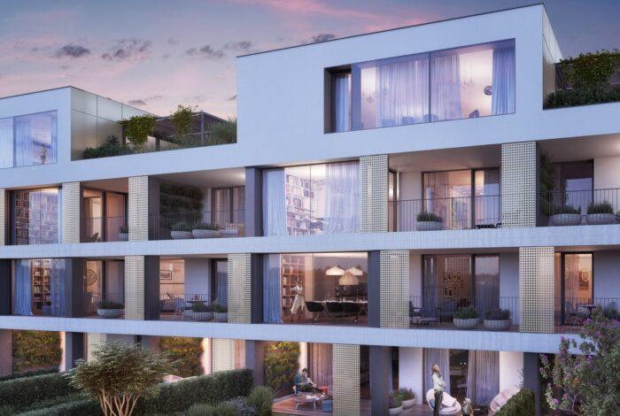 Kbelský projekt Bleriot od Flera design se pyšní nádhernými moderními byty