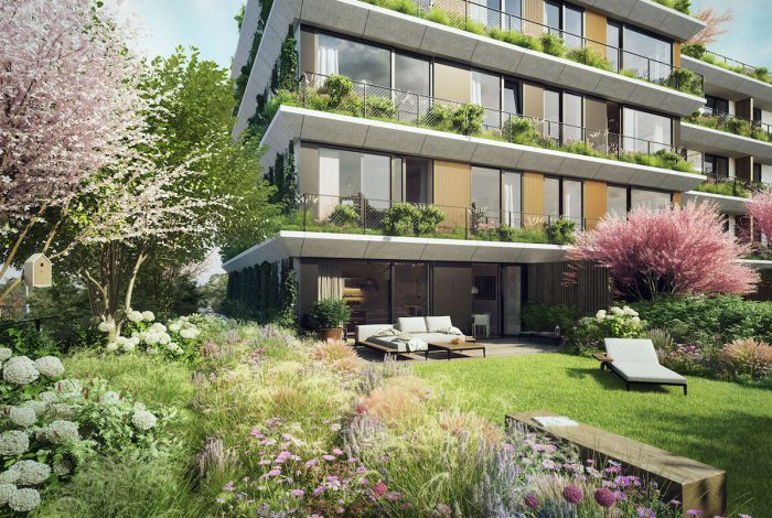 Bohatá vegetace je součástí projektu Sakura od zahradních architektů Flera design