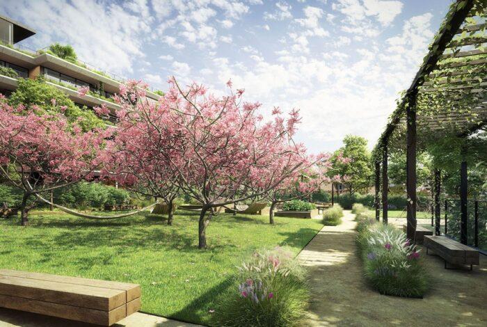 Jedinečný projekt Sakura od Flera design je úžasnou kompozicí architektury a vegetace