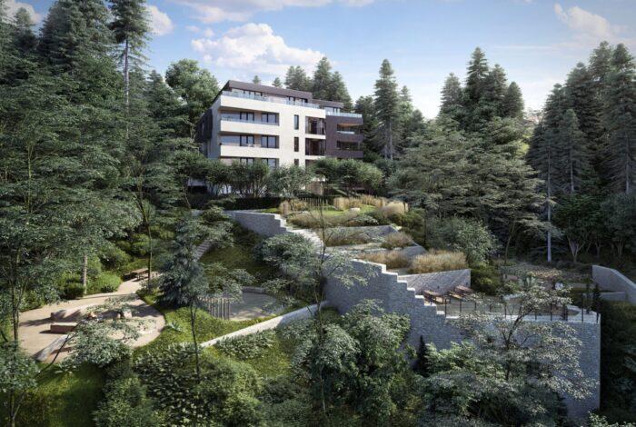 Krásná kompozice Barrandovské zahrady - vítěze Best of Realty od Flera design