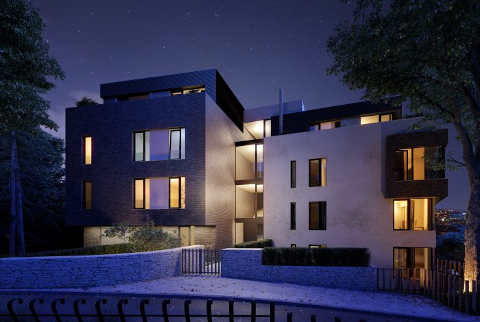 Krásná moderní vila je součástí projektu Barrandovské zahrady, který zpracovali zahradní architekti od Flera design